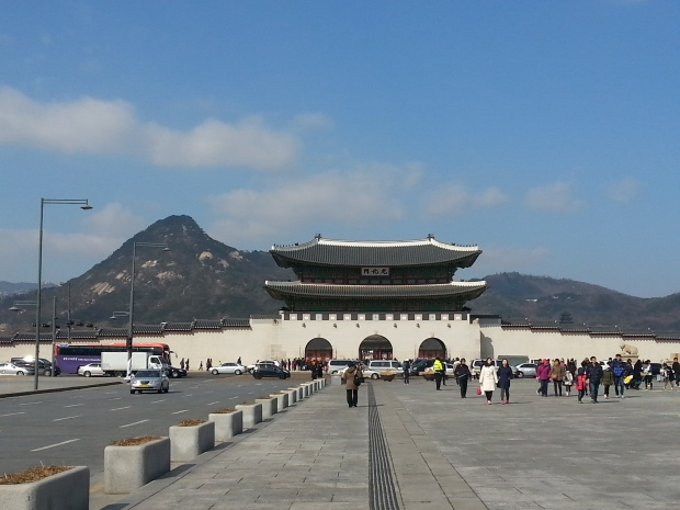 Gwanghwamun Square, in front of Gyeongbokgung.